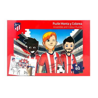 Puzzle colorear Atlético de Madrid 40pzs - modelo 1
