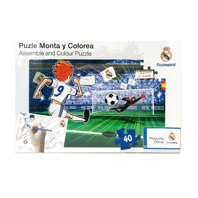 Wholesaler of Puzzle colorear Real Madrid FC 40pzs - modelo 1