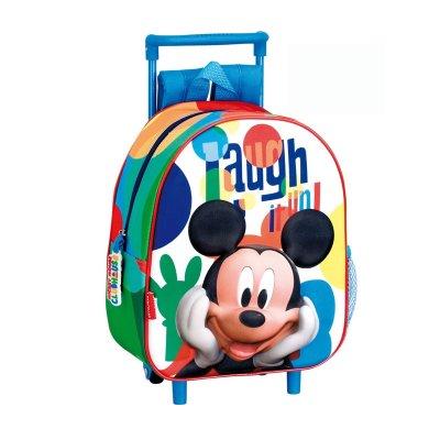 Mochila 3D Trolley infantil Mickey Mouse 30cm