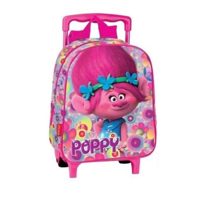 Mochila Trolley infantil Trolls Poppy 30cm