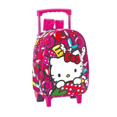 Mochila Trolley infantil Hello Kitty Fresa 30cm
