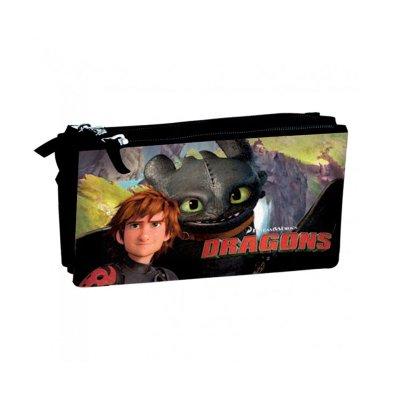 Estuche 3 compartimentos Como Entrenar a tu Dragon