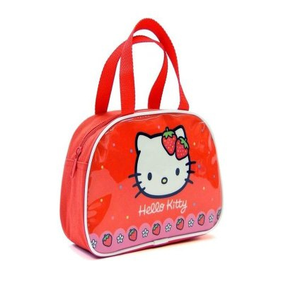 Bolso alto portameriendas con asas Hello Kitty