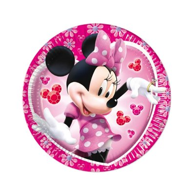 Wholesaler of 8 platos desechables 20cm Minnie Mouse