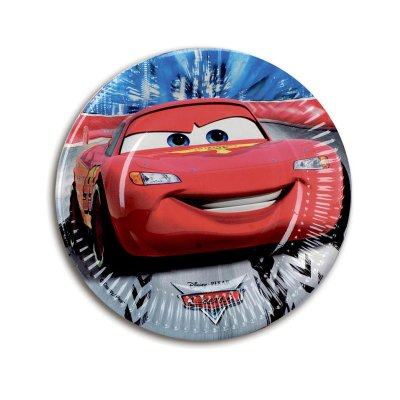 8 platos desechables 20cm Cars Disney
