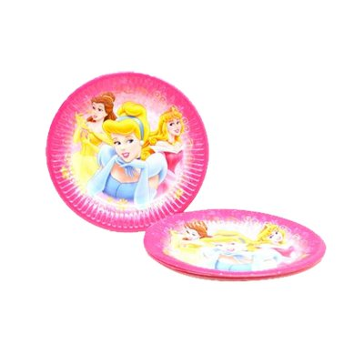 8 platos desechables 20cm Princesas Disney