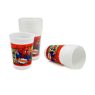 Wholesaler of Spiderman 10 plastic cups 200ml color red