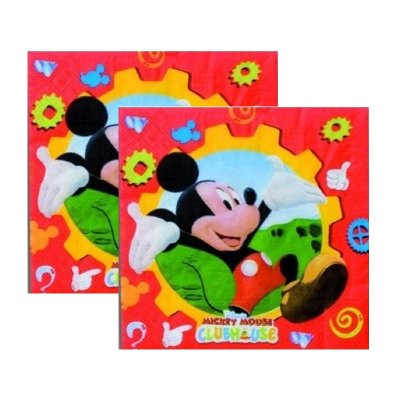 Paquete 20 servilletas 33x33cm Mickey Mouse Club House