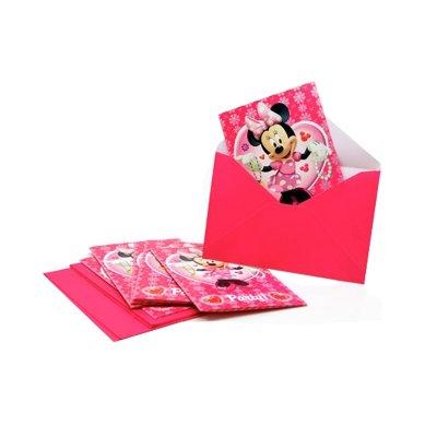 Wholesaler of Juego 6 invitaciones con sobre Minnie Mouse