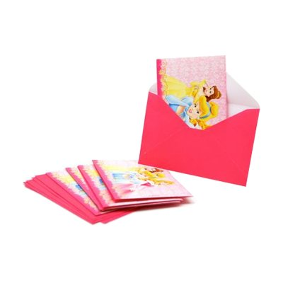 Wholesaler of Juego 6 invitaciones con sobre Princesas Disney