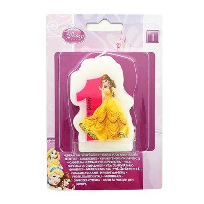 Vela número 1 Bella Princesas Disney