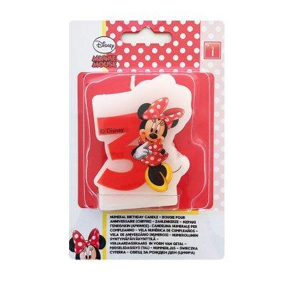 Vela número 3 Minnie Mouse