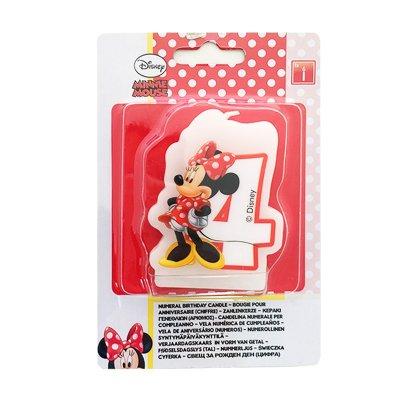 Vela número 4 Minnie Mouse