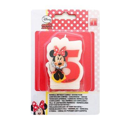 Distribuidor mayorista de Vela número 5 Minnie Mouse