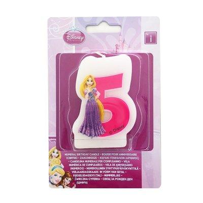 Vela número 5 Rapunzel Princesas Disney