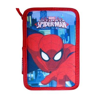 Plumier triple Spiderman Ultimate 20cm