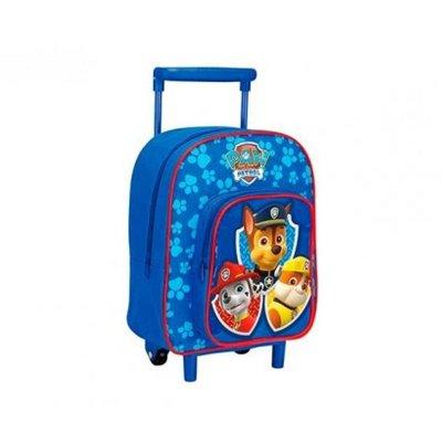 Mochila Trolley infantil Paw Patrol azul 30cm