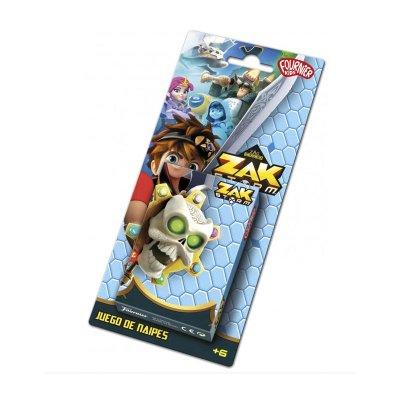 Baraja de cartas infantiles juego de naipes Zak Storm
