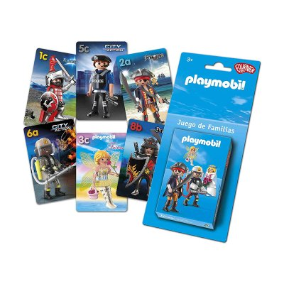 Baraja de cartas infantiles juego de familias Playmobil