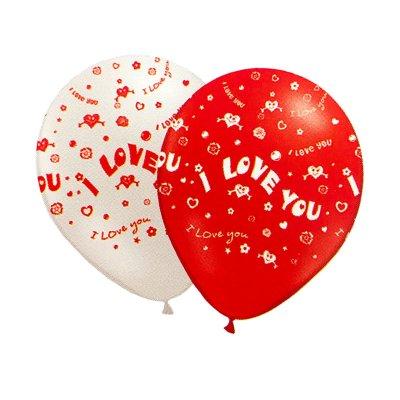 Set 6 globos corazones San Valentín