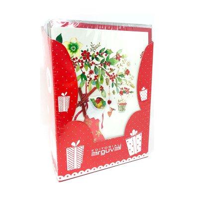 Expositor tarjetas Navidad c/sobres relieve Fantasía