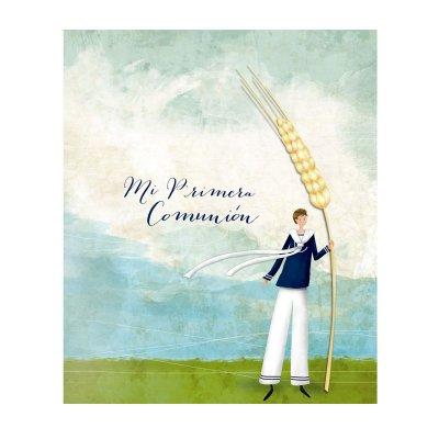 Libro Mi primera comunión niño espiga