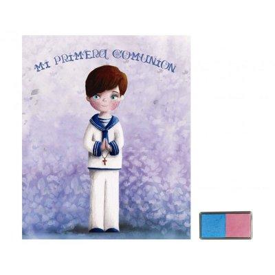 Libro c/huellas Mi primera comunión - niño