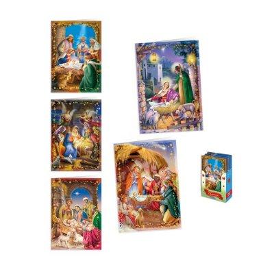 Expositor 50 tarjetas c/sobres Navidad