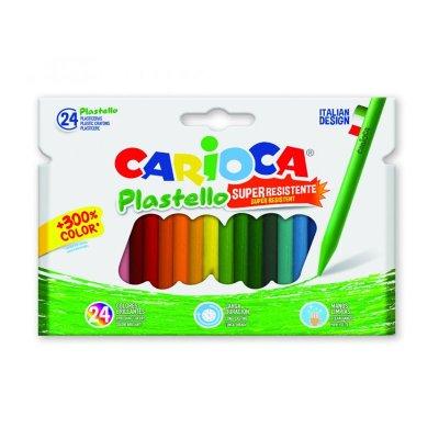 Wholesaler of Set de 24 lápices cera Carioca Plastello