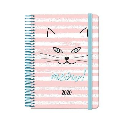 Agenda 2020 Cute Gato día página 12.5x18cm