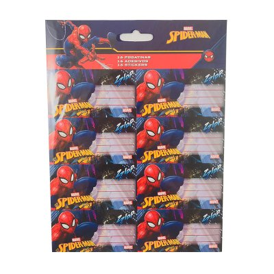 16 etiquetas adhesivas nombre Spiderman