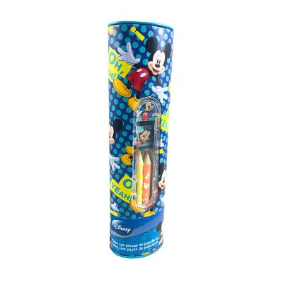 Tubo con piezas de papelería Mickey Mouse