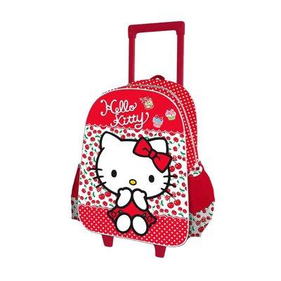 Mochila Trolley infantil 3D Hello Kitty 40cm