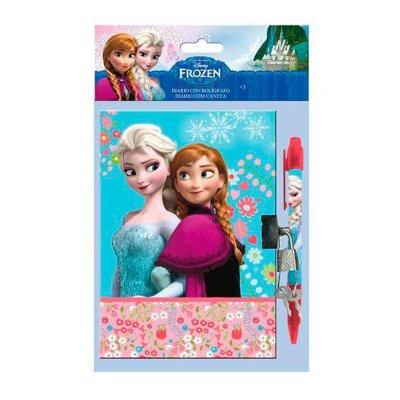 Diario con candado y bolígrafo Frozen