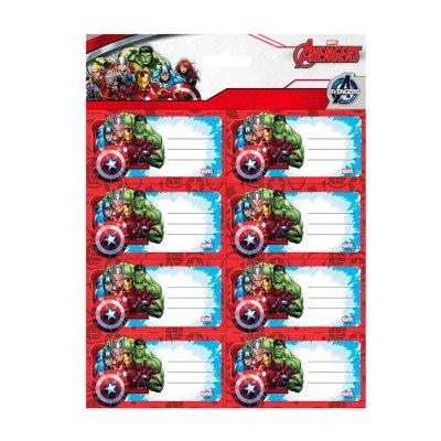16 etiquetas adhesivas nombre Los Vengadores
