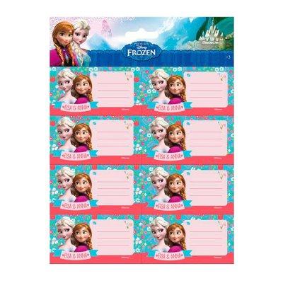 16 etiquetas adhesivas nombre Frozen
