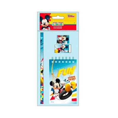 Set libreta + 3 piezas Mickey Mouse