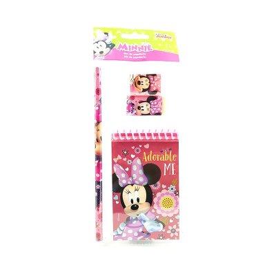 Set libreta + 3 piezas Minnie Mouse