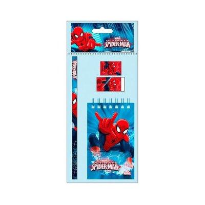 Set libreta + 3 piezas Spiderman