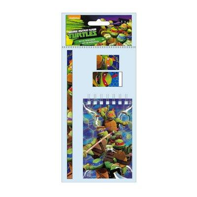 Libreta + 3 piezas Tortugas Ninja (TMNT)