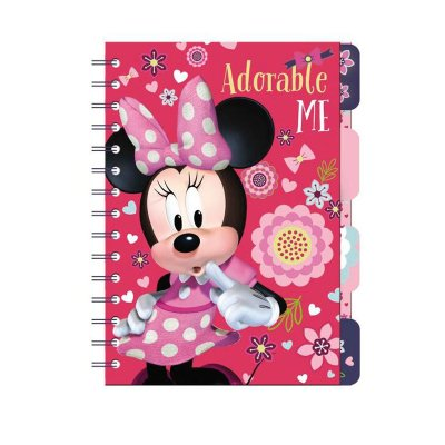 Libreta A5 con marcadores Minnie Mouse