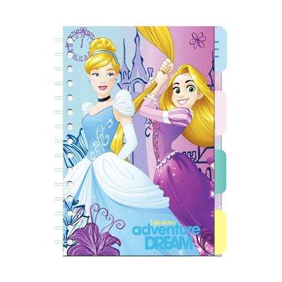Libreta A7 espiral lateral Princesas Disney