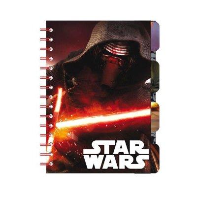 Libreta A5 con marcadores Star Wars