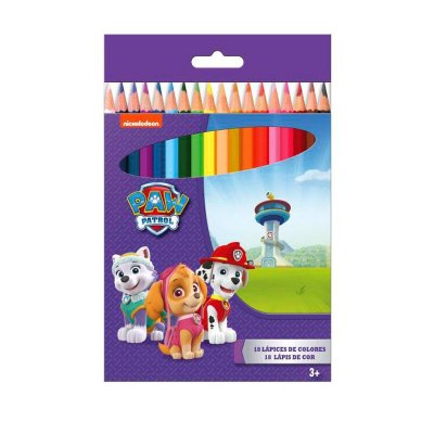 18 lápices de colores Paw Patrol Girls (La Patrulla Canina)