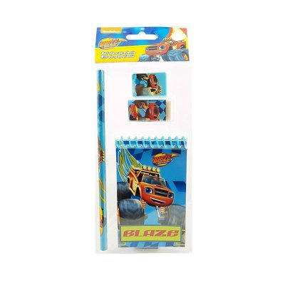 Set libreta + 3 piezas Blaze Monster Machines