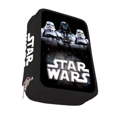 Estuche relleno 3 cremalleras Stormtrooper Star Wars