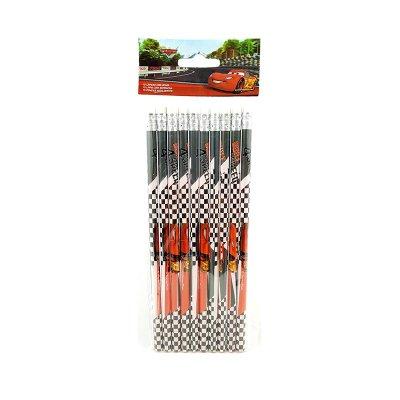 Set 10 lápices con goma Cars