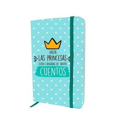 Libreta cinta lateral Hasta las princesas