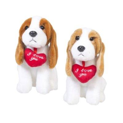 Distribuidor mayorista de Expositor peluches perrito con corazón 18cm