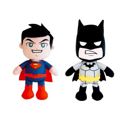 Peluches Superman & Batman DC 30cm